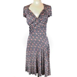 Leota sweetheart fit and flare wrap dress
